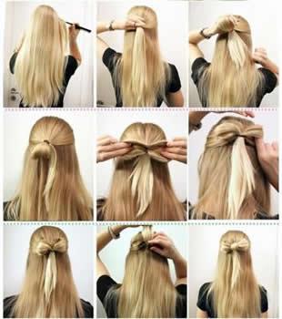Okul İçin Kolay Saç Modelleri Ve Yapılışları Resimli