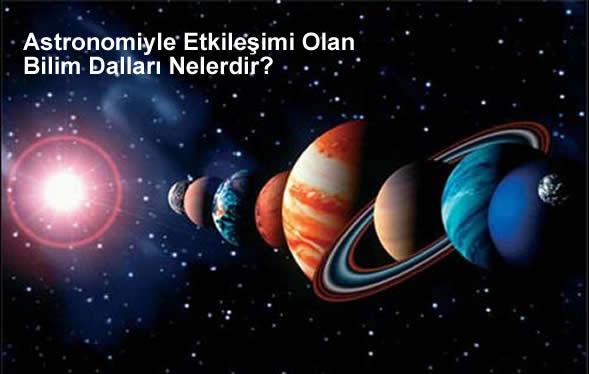 Astronomiyle Etkileşimi Olan Bilim Dalları Nelerdir?
